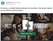 starbucks facebook engagement