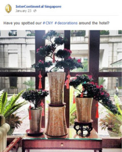 Intercontinental Singapore CNY dinner bookings increase active social media campaign MavSocial