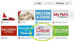 PetSmart App Digital Gift Guide Facebook Social medial software Mavsocial