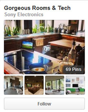 Gorgeous Rooms and Tech Sony Electronics pinterest maximum exposure social media