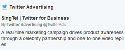 SingTel Twitter campaign #Need4GSpeed increase website traffic brand mentions services launch promoted tweets