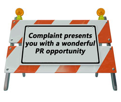 complaint presents you with a wonderful PR opportunity MavSocial social media software