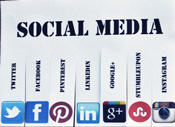 social media networks Facebook Twitter Tumblr Instagram Pinterest YouTube