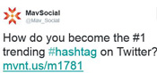 Create valuable meaningful tweets #hashtag social media software for business company MavSocial