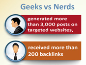 infographic on social media Geeks vs Nerds