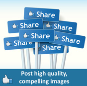 Facebook posts visibility optimization
