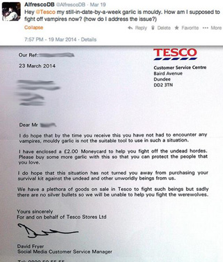 Tesco customer service on Twitter MavSocial social media software for business