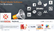 MavSocial social media software for business official facebook page