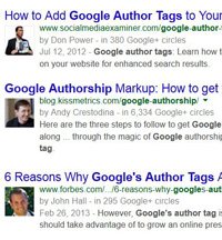 add Google author tags to blogs for improved seo rankings