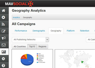 MavSocial social media software for business for social media analytics , content management and scheduling