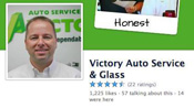 Victory Auto Service social media accounts Facebook Twitter Youtube videos